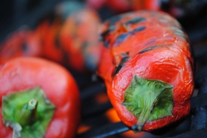 roasting-peppers